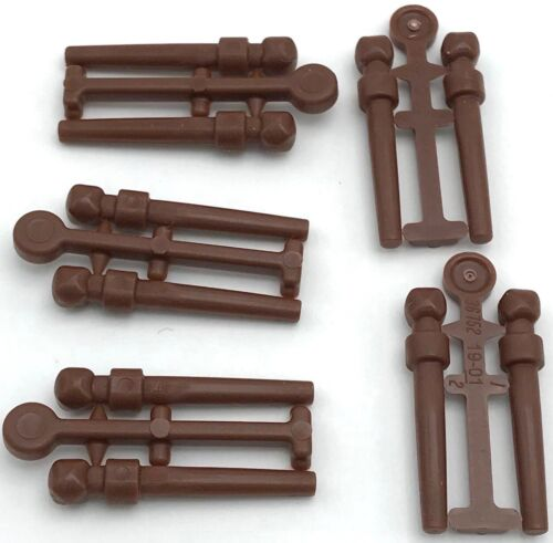 Lego 5 New Reddish Brown Minifigure Utensil Wand 2 on Sprue Parts