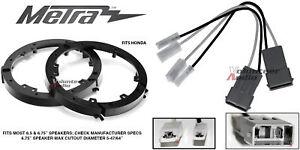 """Metra 82-7805 6"""" - 6.75"""" Speaker Adapter Install Parts Harness For Honda Acura"""