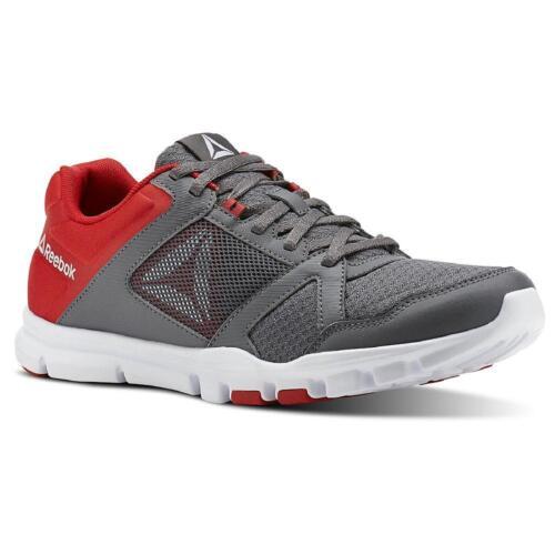 Heren Reebok Yourflex Tech Train Atletische Running Gym schoenen Foam Memory Jogging v0Nnwm8