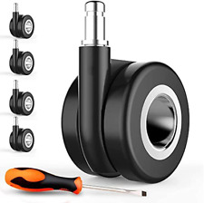 Office Chair Caster Wheels Set Of 5 Safe For All Floors Including Hardwood Dou