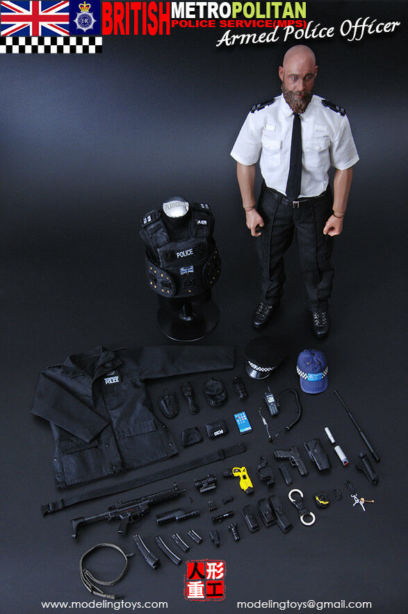 1 6 Scale MODELING TOYS MMS9002 British Police Service-Armed Police Officer