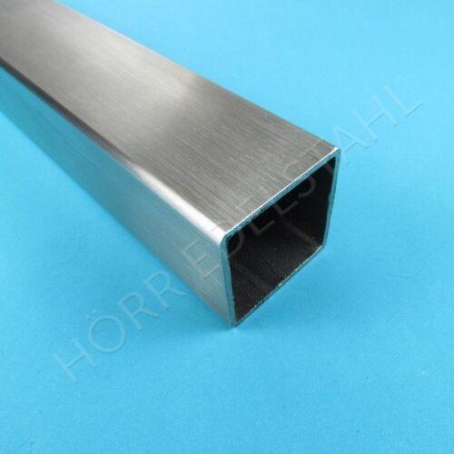 25cm Quadrat-Rohr 100x100 EDELSTAHL K240 Vierkantrohr