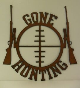 Metal-Gone-Hunting-Sign-Made-in-USA