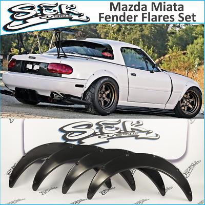 For 90-97 NA Mazda Miata JDM Front Rear 60mm Over Fender Flares Urethane