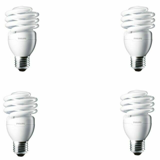 Philips 433557 100-watt Equivalent 6500K 4-Pack 23 Watt Spiral CFL Light Bulb Bright White