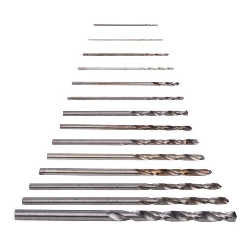 60//50X Spiralbohrer 0.5-1.0mm//0.5-3mm//1.6-2mm Micro HSS Stahlbohrer Drill Bit