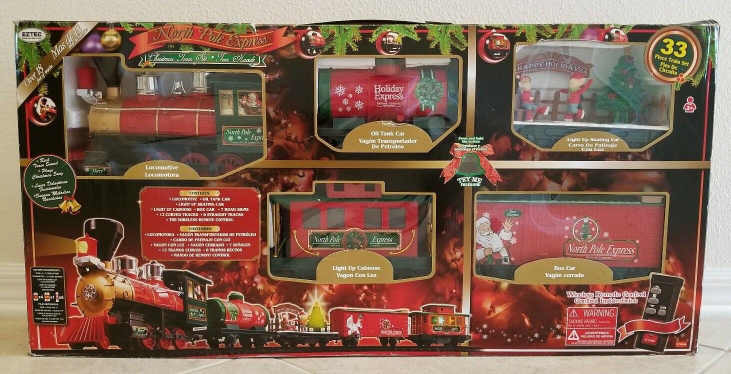 Eztec North Pole Express Tren Navidad 33 Piezas Set con Control Remoto