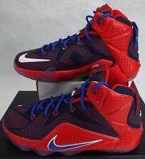 NIKE 4.5 Youth 4.5y Lebron XII GS Red Blue Superman Shoes$160 685181-601 Women 6