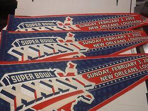 Super-Bowl-XXXVI-Lot-Of-3-Pennants-New-Orleans-jh