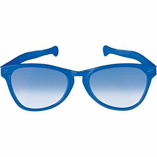"10/"" Party Ready Team Spirit JUMBO Glasses Blue"