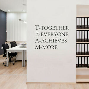 Image Is Loading Team Motivational Quote Office Wall Sticker Quotes Vinyl