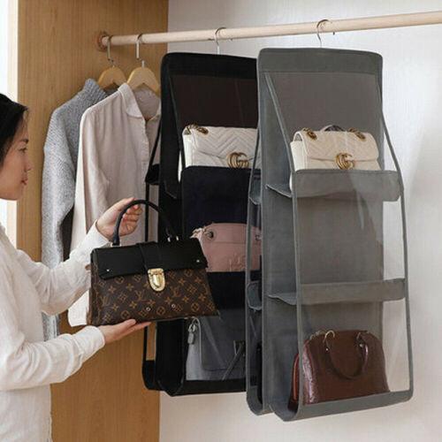2 Pcs Set Handbags OrganiserWardrobe OrganiserPurse /& Handbag Storage