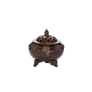 8 lucky symbols resin charcoal censer handmade incense burner chimney pot 1567
