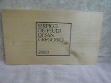 2003 DI SAN  GREGORIO  SERPICO DEI FEUDI WOOD WINE PANEL