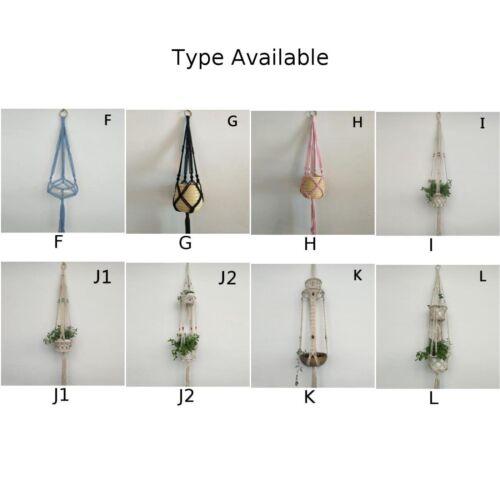 Multi VINTAGE CORDA INTRECCIATA macramè Vaso appeso di fiori supporto pianta