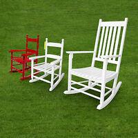Vintage Indoor/patio/porch Solid Wooden Rocker/rocking Chair Child/adult