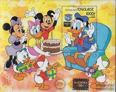 Postfrisch 1986 Donald Duck Um Eine Reibungslose üBertragung Zu GewäHrleisten Gehemmt Befangen Verlegen Togo Block288 Unsicher Selbstbewusst kompl.ausg.