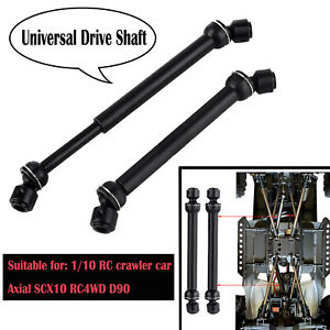 Metal-Universal-Ejes-de-Accionamiento-para-1-10-rc-crawler-coche-Axial-SCX10-RC4WD-D90-2PCS