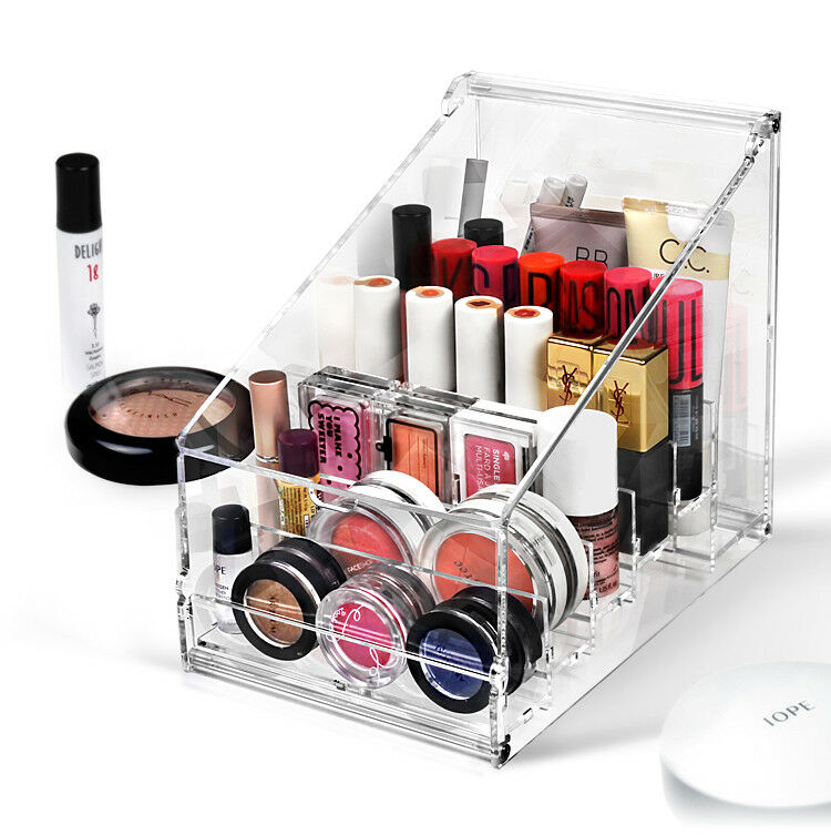 Details About Clear Acrylic Diy Makeup Organizer Lipstick Holder Display Case