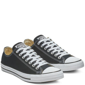 CONVERSE-Chuck-Taylor-All-Star-Classic-Low-Top-Scarpe-Sneakers-BLACK-M9166C