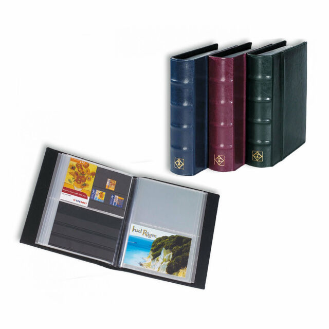 Lighthouse Classic Postcard Album with 50 Clear Pockets - RED