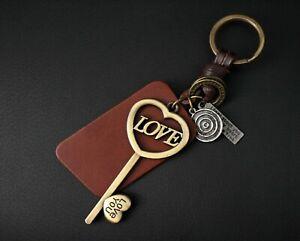 AuPra-Love-Key-Keyring-Leather-Vintage-Keychain-Key-Chain-Valentine-Gifts