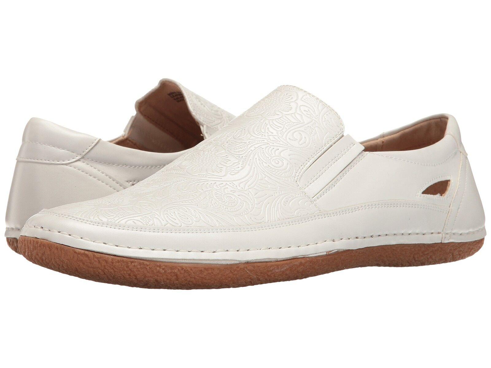Stacy-Adams Men's NAPA Moc toe slip-on White shoes 25096-100