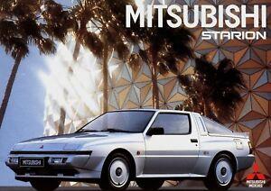 Mitsubishi-Starion-Prospekt-1987-8-87-Broschuere-Autoprospekt-prospetto-brochure