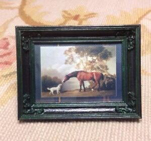 Foxhounds Horse Miniature  Dollhouse  Picture