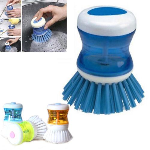 Pan Pot Dish Bowl Palm Brush Soap Dispense Brush Wash Cleaning Kitchen Tool Kit