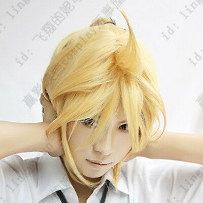 01 Vocaloid Len Blonde Short Cosplay Wig