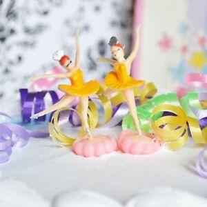 6 Ballerina Yellow Cake Topper Ballet Favor Dance Birthday