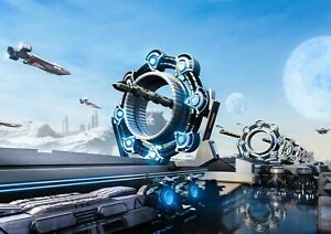 Futuristic-Spacecraft-Poster-Size-A4-A3-Shuttle-Fantasy-Poster-Gift-14101