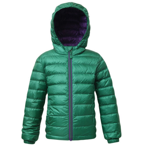 Boys/' Ultra Lightweight Hooded Packable Down Jacket Quilted Puffer Coat Outwear