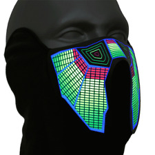 LED Equalizer Maske Raver Festival Gadget Fasching Karneval Party DJ Club Disko