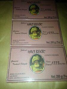 HACI Bekir since 1777 ISTANBUL TURKISH DELIGHT ''LOKUM'' Rose