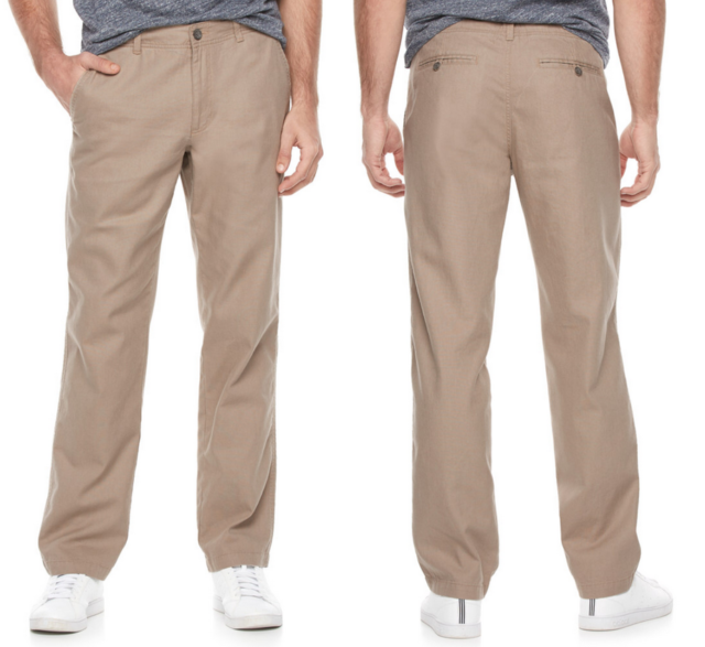 f5687742977aa6 New Mens Marc Anthony Slim Fit Linen Blend Pants 30X30 Sandy Cove W30 L30  New