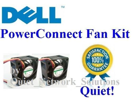 Lot 2x Fans Low Noise 9Y198, 8Y736 Quiet Dell PowerConnect 5212 Fan Kit