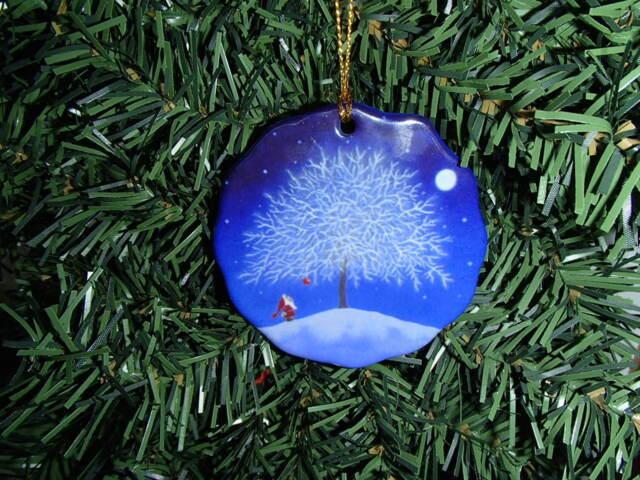 scandinavian swedish christmas ceramic ornament eva melhuish tomte at tree 10 - Swedish Christmas Tree