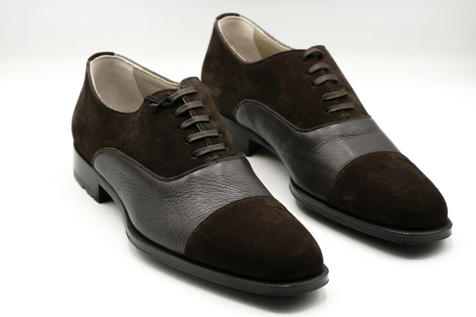 NEW KITON Napoli Dress Leather Shoes Size Eu 42 Uk 8 Us 9 (KIS20)