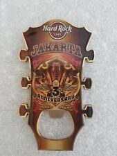 JAKARTA,Hard Rock Cafe,BOTTLE OPENER MAGNET,GUITAR HEAD, 3RD ANNIVERSARY