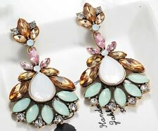 Fashion Elegant Multi Crystal Rhinestone  Ear Drop Dangle Stud long Earrings 142