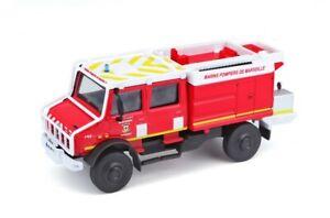 Miniature Bburago Camion Mercedes Unimog 1/50 Brigade marins Pompiers Marseille