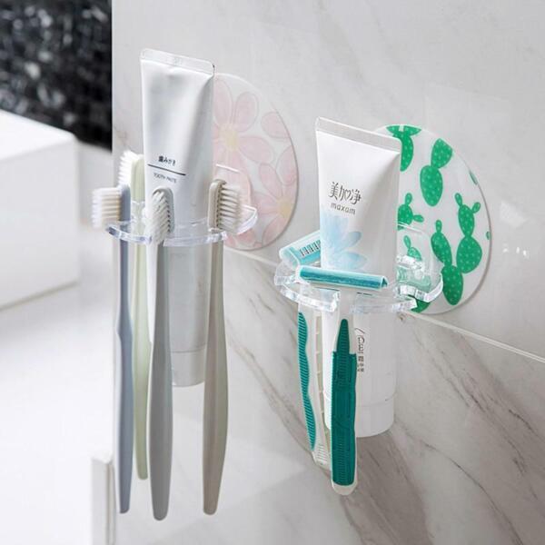 1pc Plastic Toothbrush Holder Toothpaste Storage Rack Shaver Tooth Brush Dispens Goederen Van Elke Beschrijving Zijn Beschikbaar