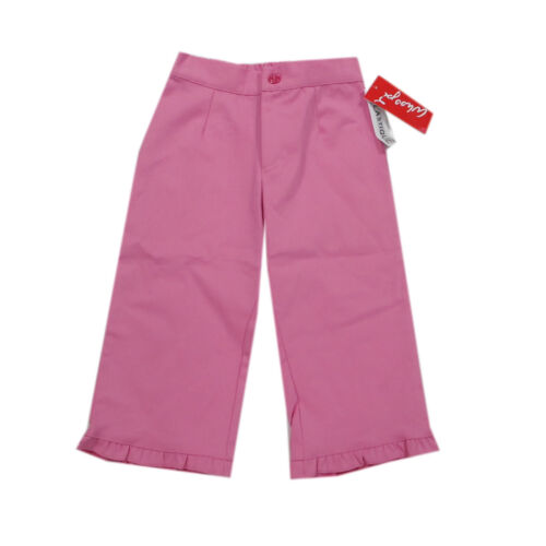 Whoopi Pantaloni Capri-Pantaloni Pantaloni CORTI ROSA ROSA ESTATE RAGAZZA TG 146 122 140
