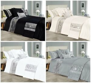 Luxury Star 3 Pieces Duvet Quilt Cover Set OR Filled Square Cushion Bed Runner
