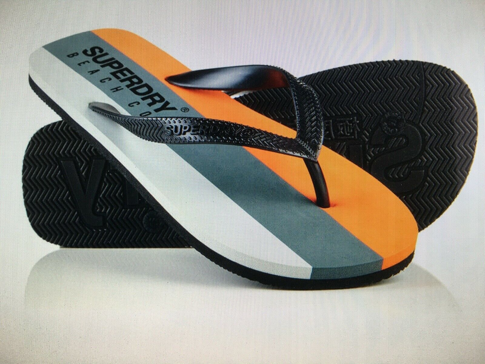 NEW Superdry Sleek Flip-Flops UK Small