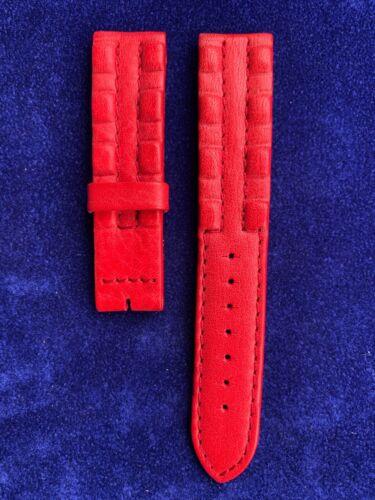 New SECTOR 20 MM Leder Wafer R Wählbare Band Gurt Uhrarmband Original NOS