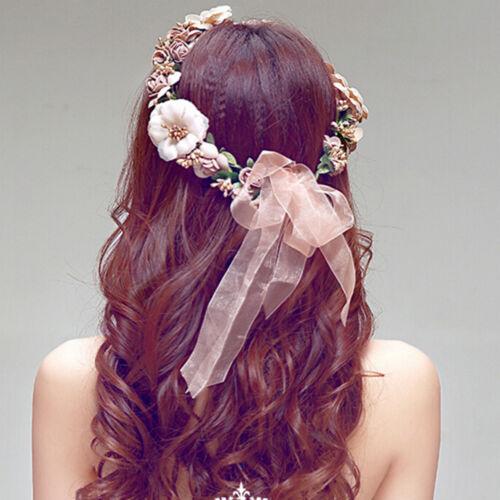 Floral Flower Party Wedding Crown Hair Wreaths Headband Hair Band Garland UUMW
