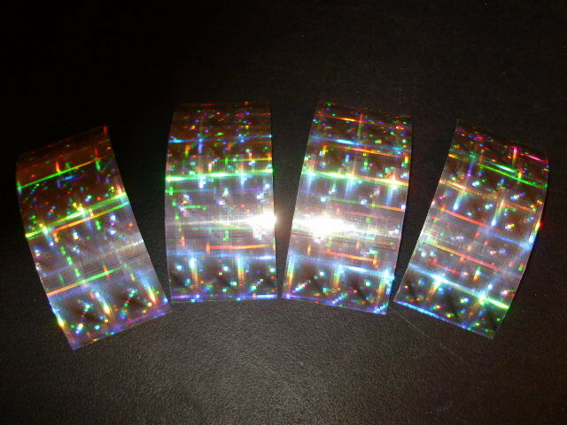 "Mad River 2.5 x 6/"" 4 PACK SILVER DISCO HOLOGRAPHIC Fishing Lure Tape"
